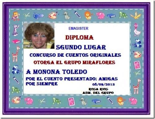 CONCURSO DE CUENTOS ORIGINALES MONONA TOLEDO