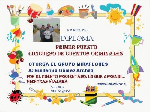 CONCURSO DE CUENTOS ORIGINALES PRIMER PUESTO GUILLERMO GÓMEZ ARCHILA