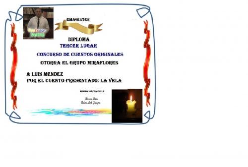 Concurso de cuentos originales tercer lugar Luis Mendez