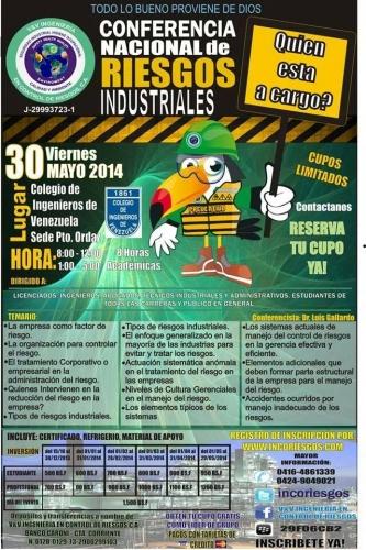 CONFERENCIA DE RIESGOS INDUSTRIALES 30 MAYO 2014