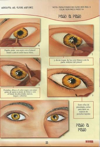 pasos para pintar ojos 3