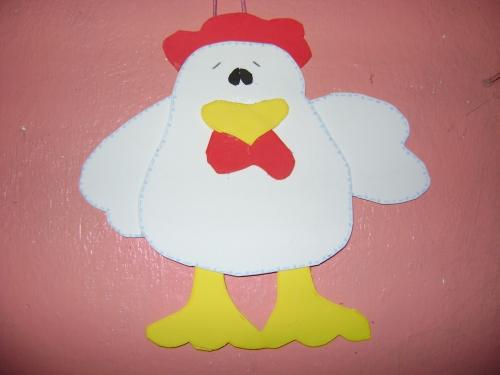 Imagen pollo en foami - grupos.